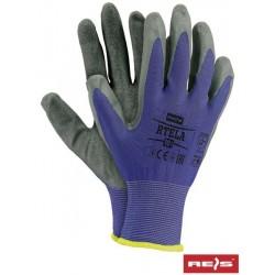 RTELA work gloves blue grey 11